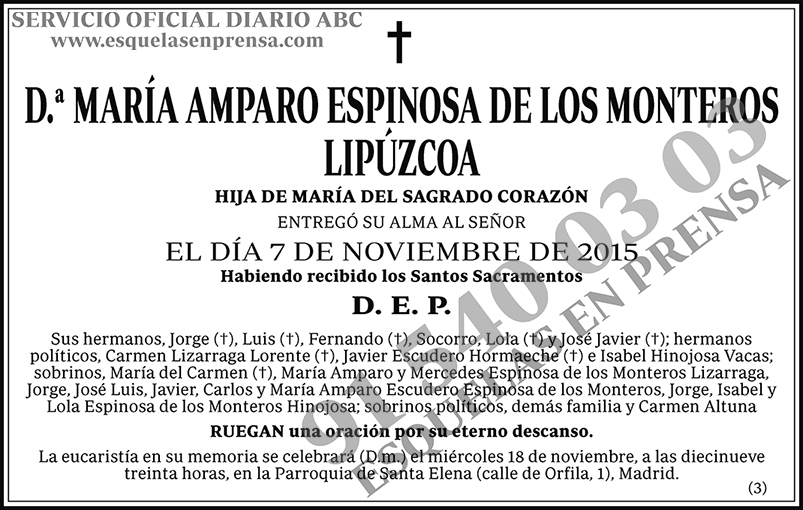 María Amparo Espinosa de los Monteros Lipúzcoa
